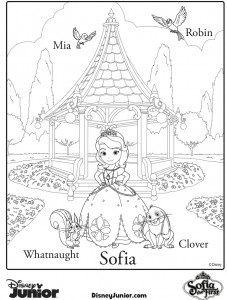 sofia the first coloring pages family | sofia coloring page | Family Choice Awards