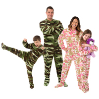 Camouflage Footed Pajamas for the Family | Family Choice Awards