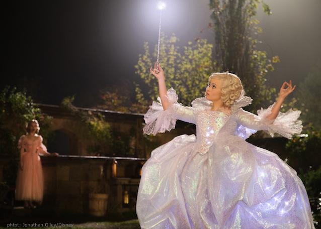 Cinderella Wedding Dress Scene : Cinderella waltzes onto the big screen along with some