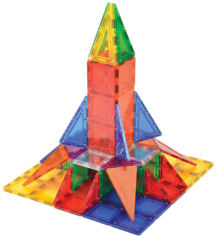 MagWorld Toys Rainbow Magnetic Construction Set 104 Piece