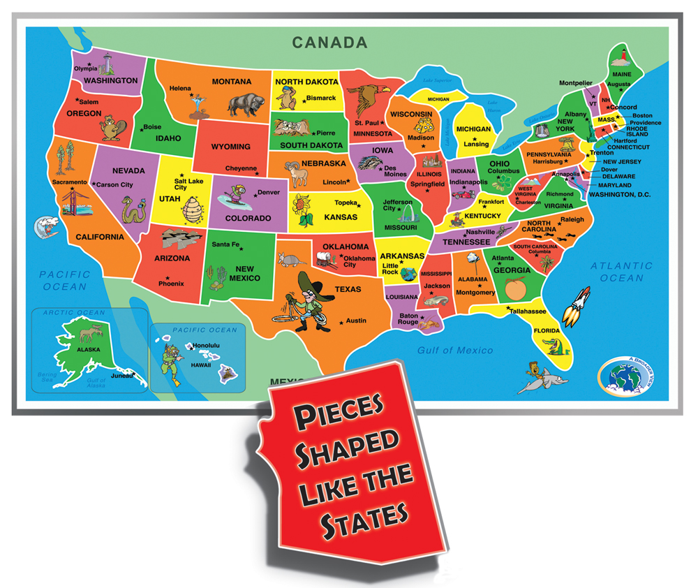 Children Family Choice Awards - Us map puzzle for toddlers