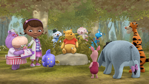 HALLIE, DOC, SQUEAKERS, CHILLY, POOH, LAMBIE, PIGLER, STUFFY, EEYORE, TIGGER