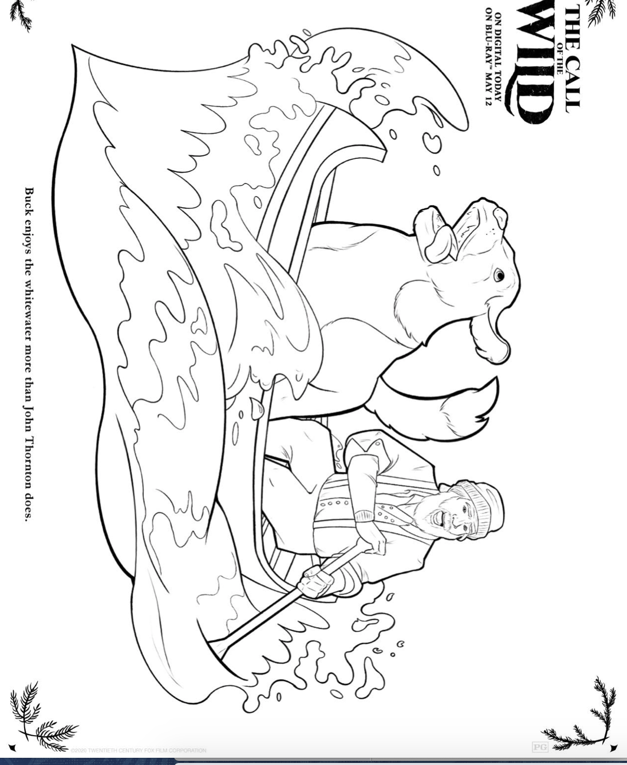 The Call Of The Wild Downloadable Coloring Pages Family Choice Awards
