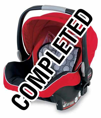 Britax B-Safe Infant Car Seat completed giveaway