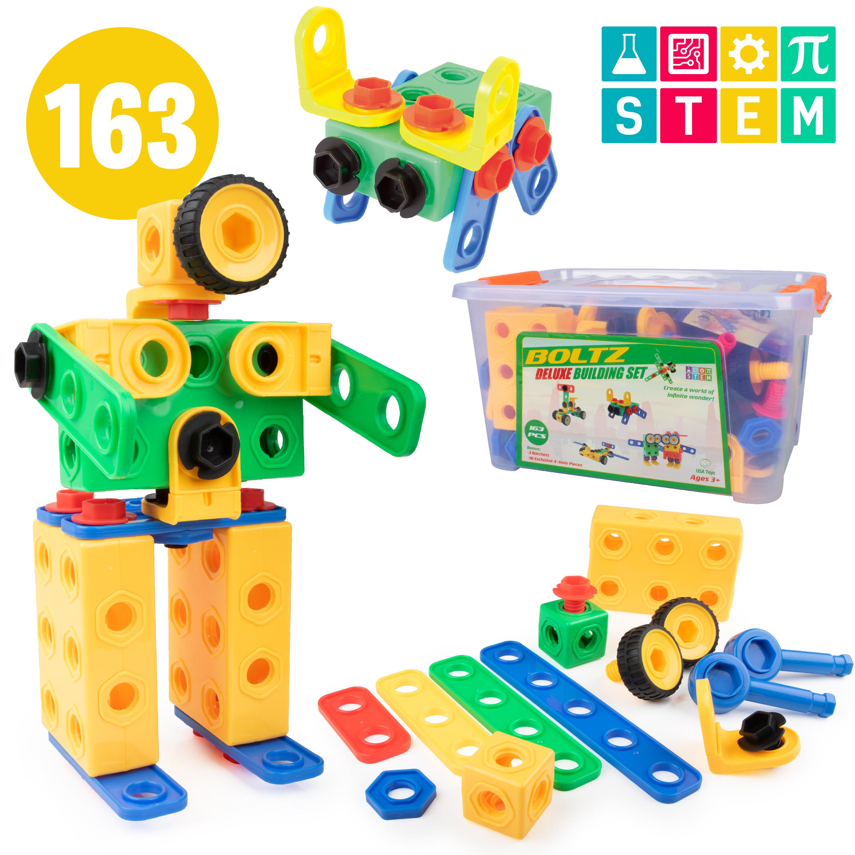 Boltz Educational Building STEM Toy Set (163 pieces ...